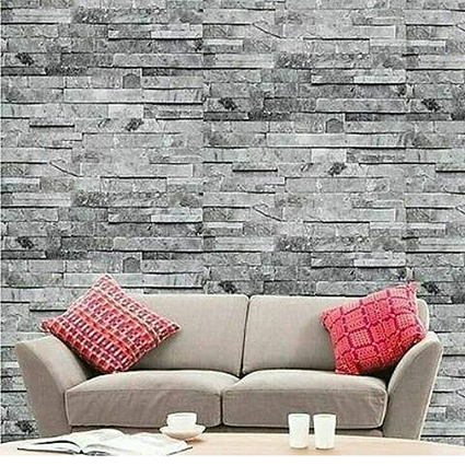embossed brick wallpaper