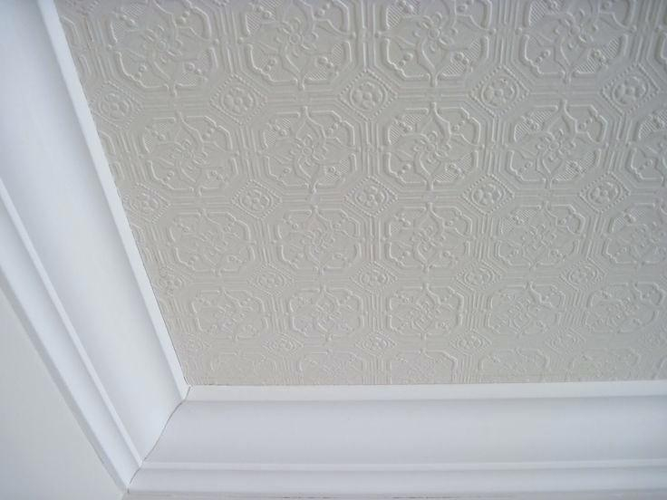 Textured ceiling wallpaper