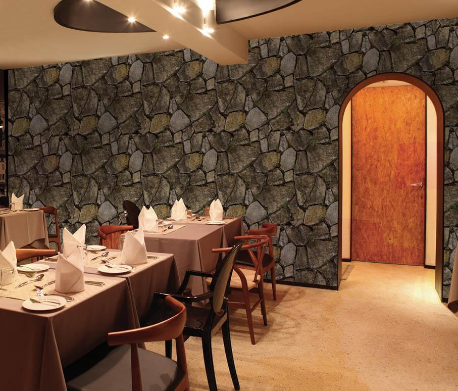 Textured stone wallpaper