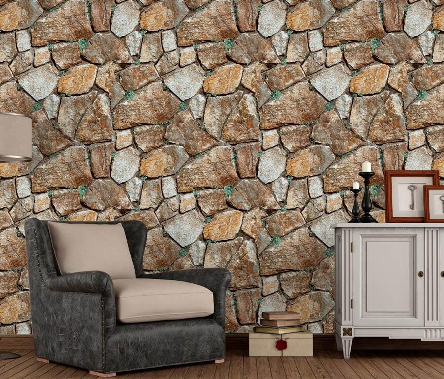 Brown & white stone wallpaper
