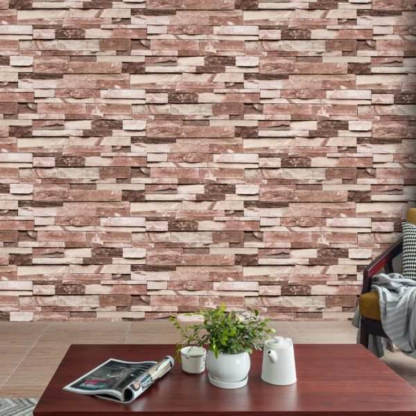 Faux brick wallpaper A22-20P02