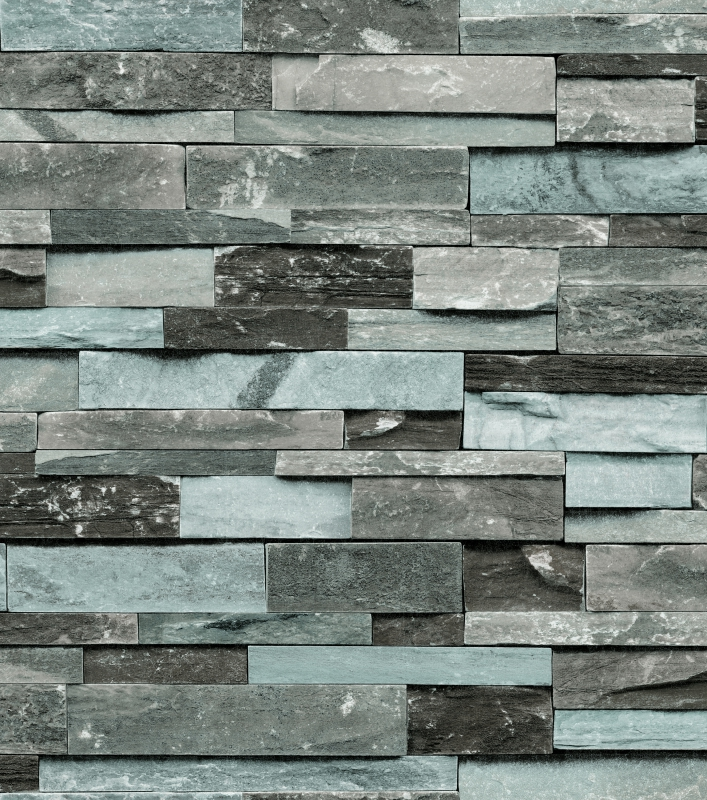 Blue stone wallpaper for office decor