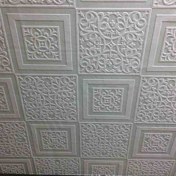 Textured Ceiling Wallpaper Hides Ceiling Defects
