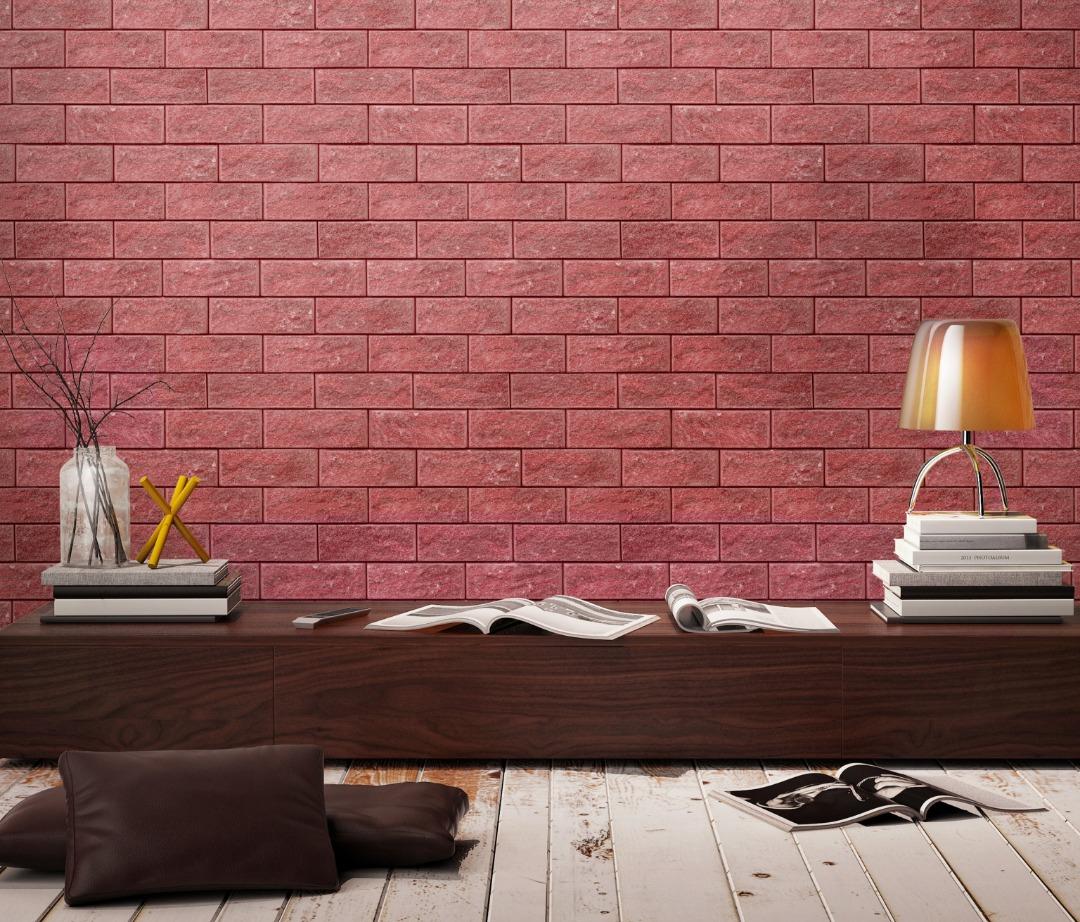 Rustic red brick wallpaper - Call: +254741889754 Wallpaper Kenya.