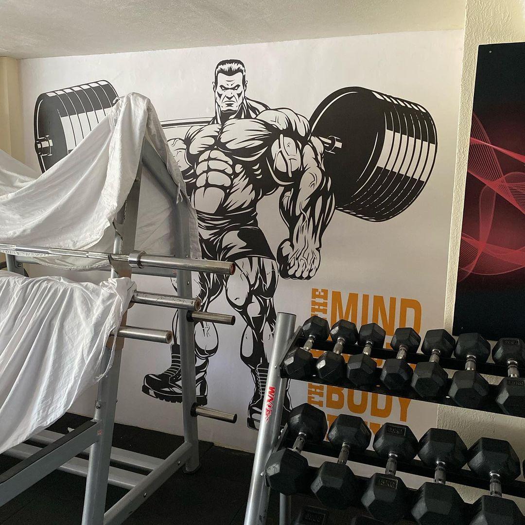 Weight Lifting Gym Custom Wallpaper Hulk Print