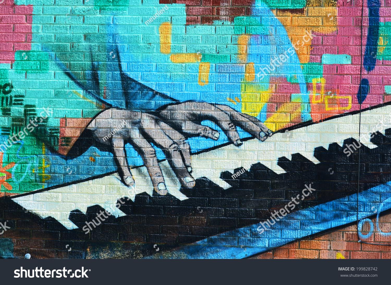 Graffiti Music Wall Paper