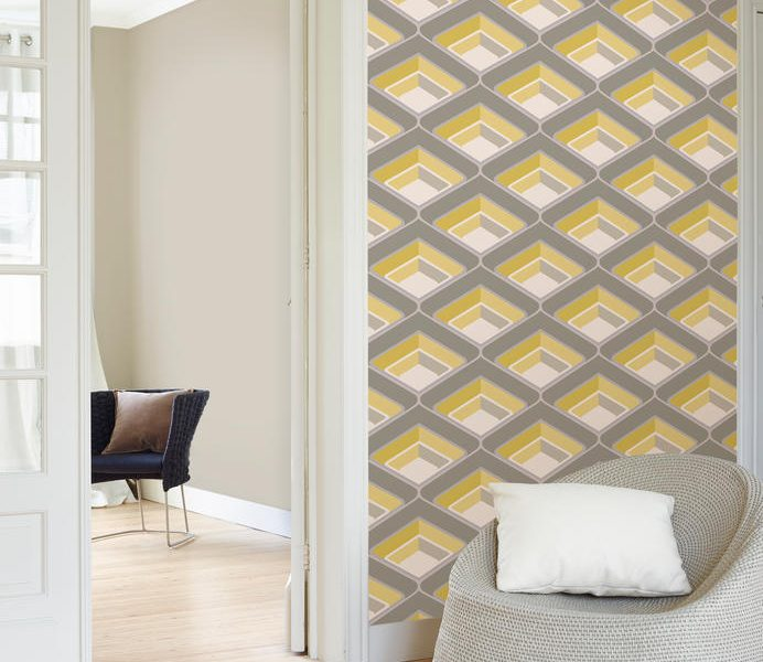 Creating Depth with Geometric Wallpaper