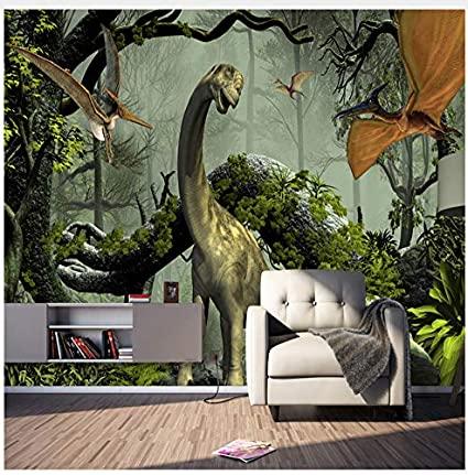 dinosaur school wall murals